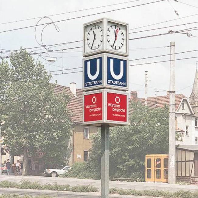 Uhrenwürfel mit klassischem Ziffernblatt und zwei zusätzlichen Werbewürfeln (U25.1)