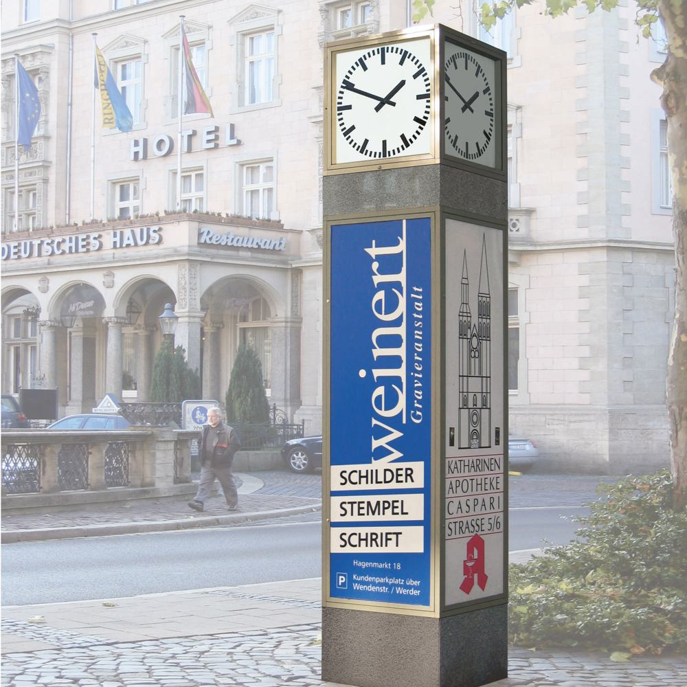 Clocks with advertising space