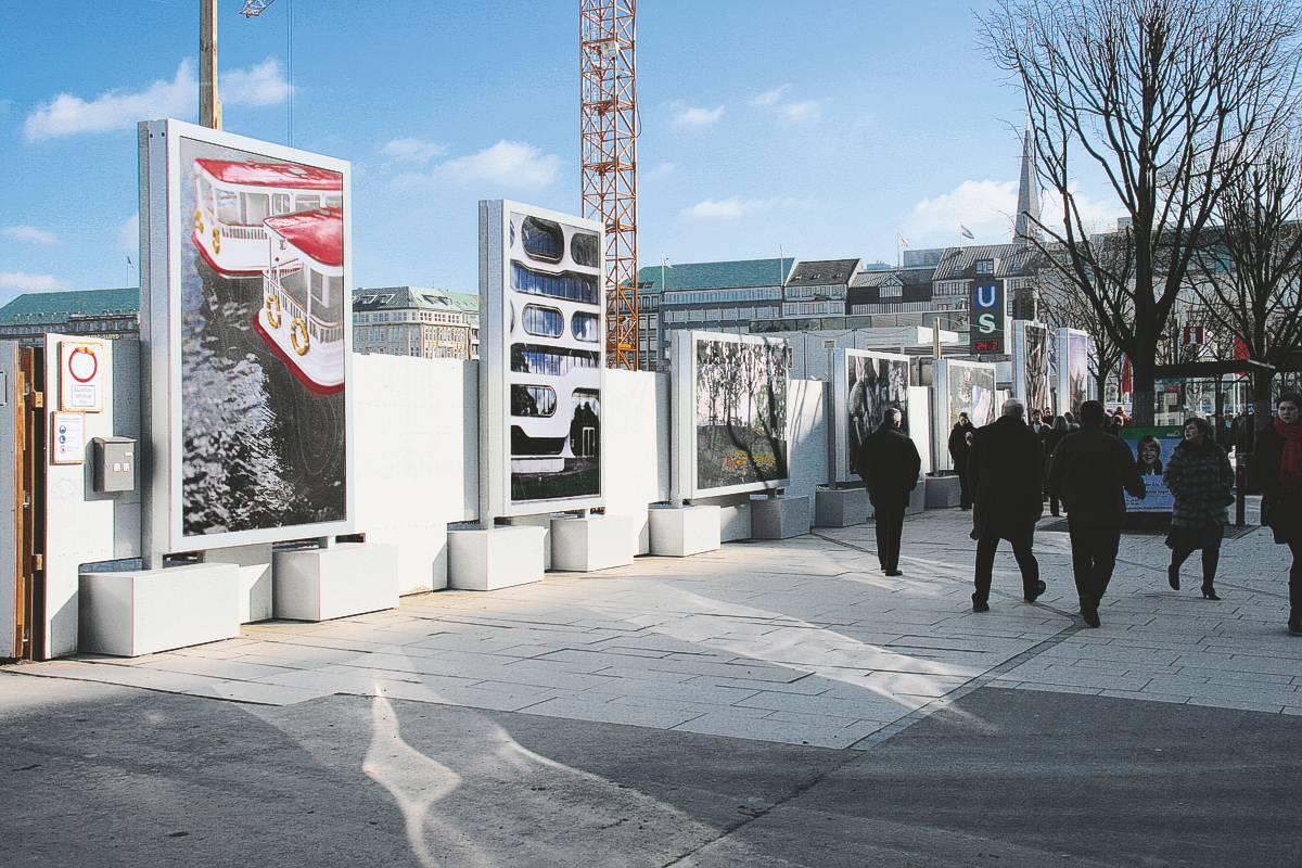 PLENUM City-Light Sonderkonstruktion für eine zeitlich begrenzte Aufstellung am Hamburger Jungfernstieg (AV 191)