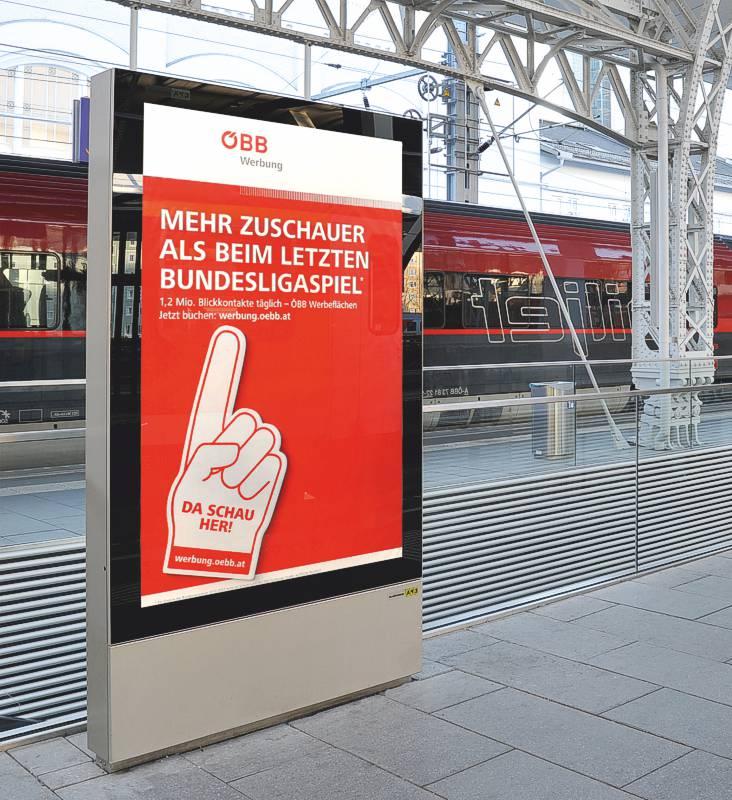 VITRUM City-Light Schaukasten der ÖBB (Österreichischen Bundesbahn) (AV 61)