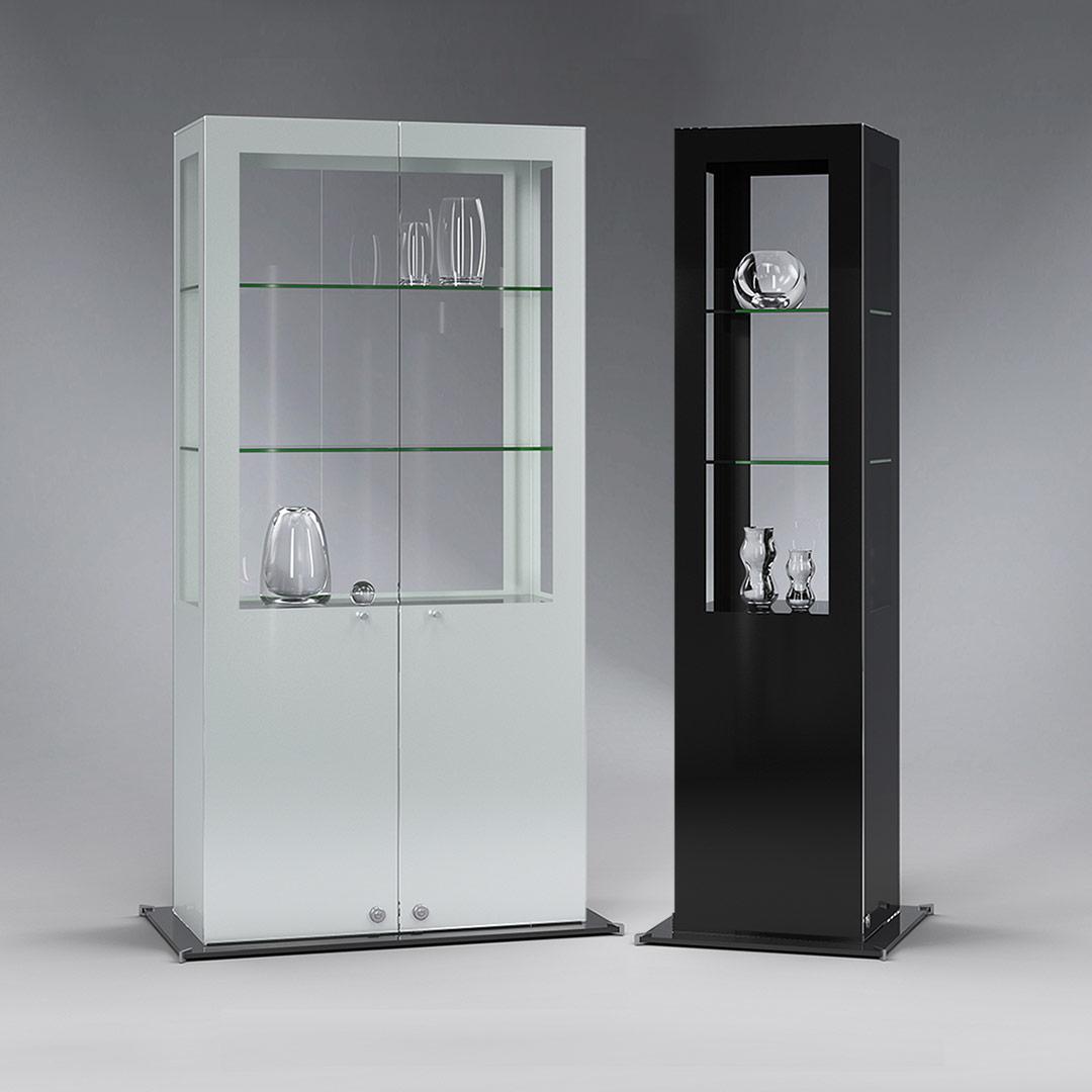SIGNUM Design Ganzglasvitrinen Serie