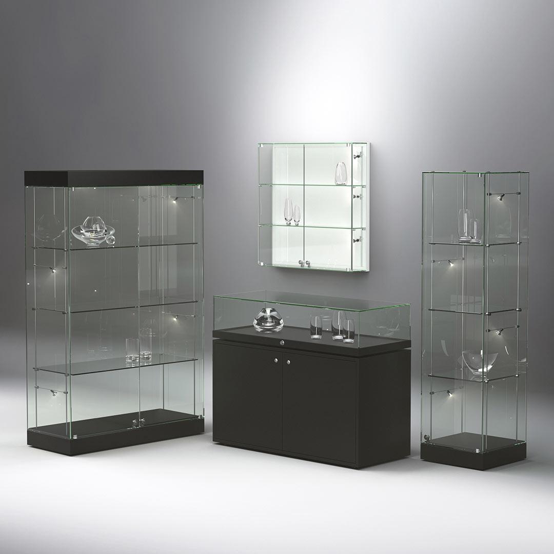 FANUM series all-glass showcases